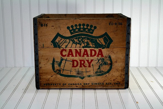 Vintage Wood Crate / Wooden Box / Canada Dry Wood Crate
